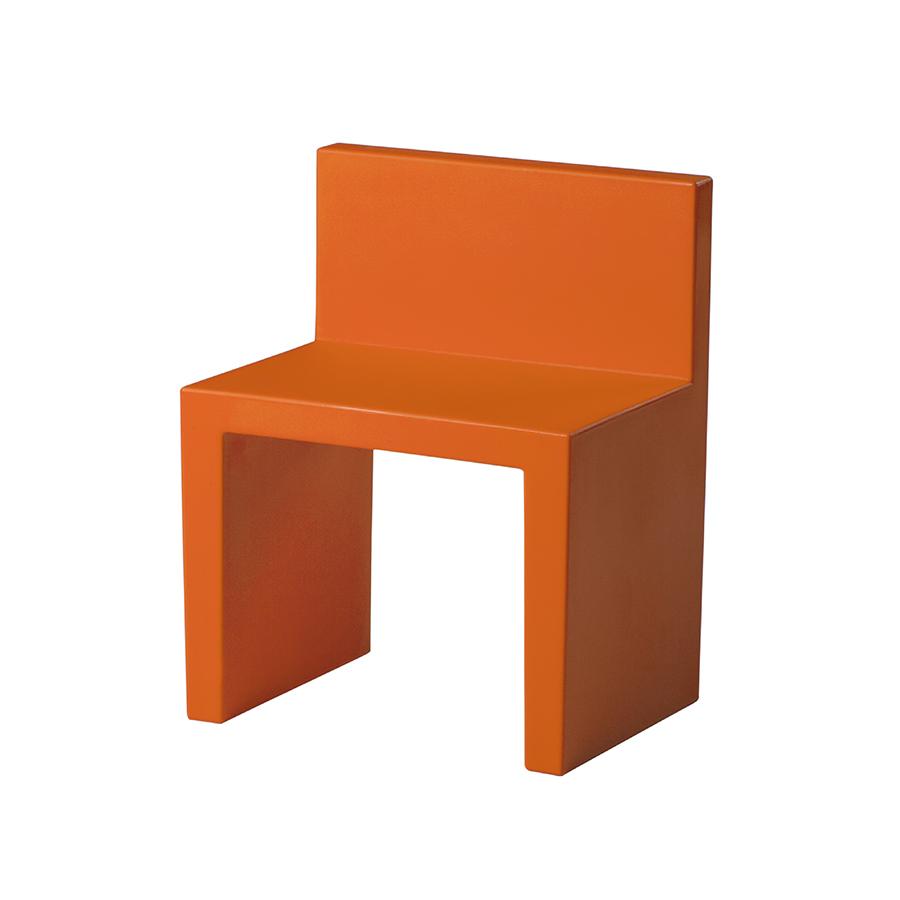 SLIDE set de 2 chaises ANGOLO RETTO (Orange Polyéthylène)