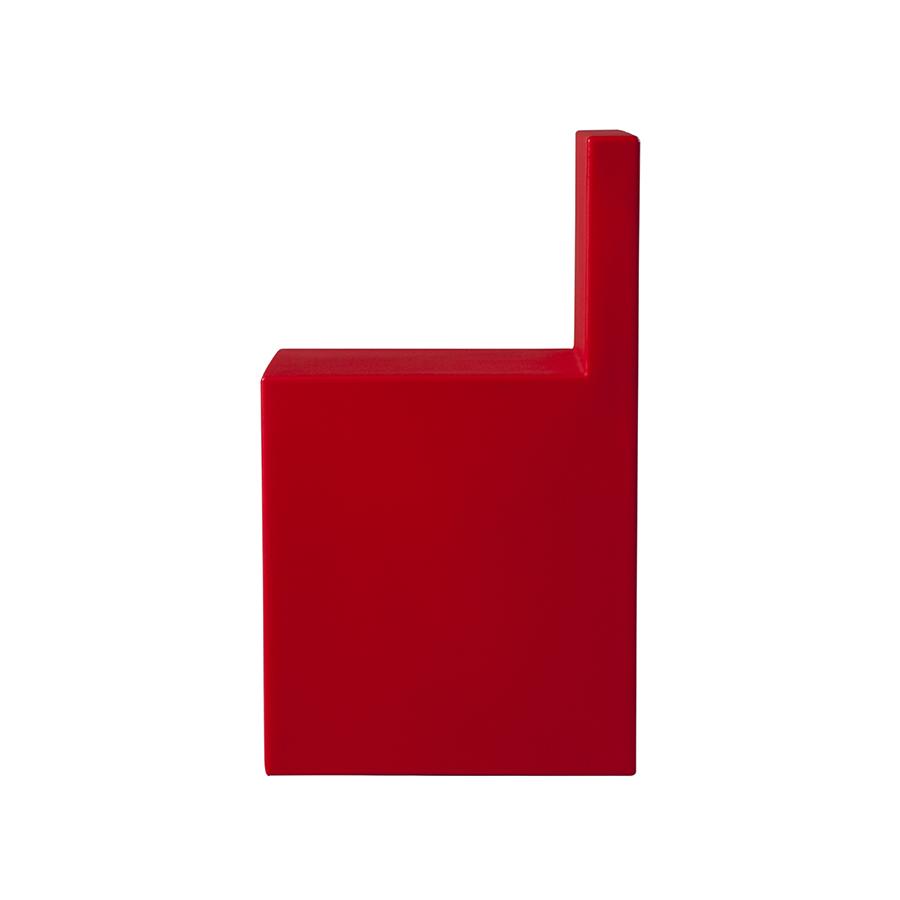 SLIDE set de 2 chaises ANGOLO RETTO (Rouge Polyéthylène)