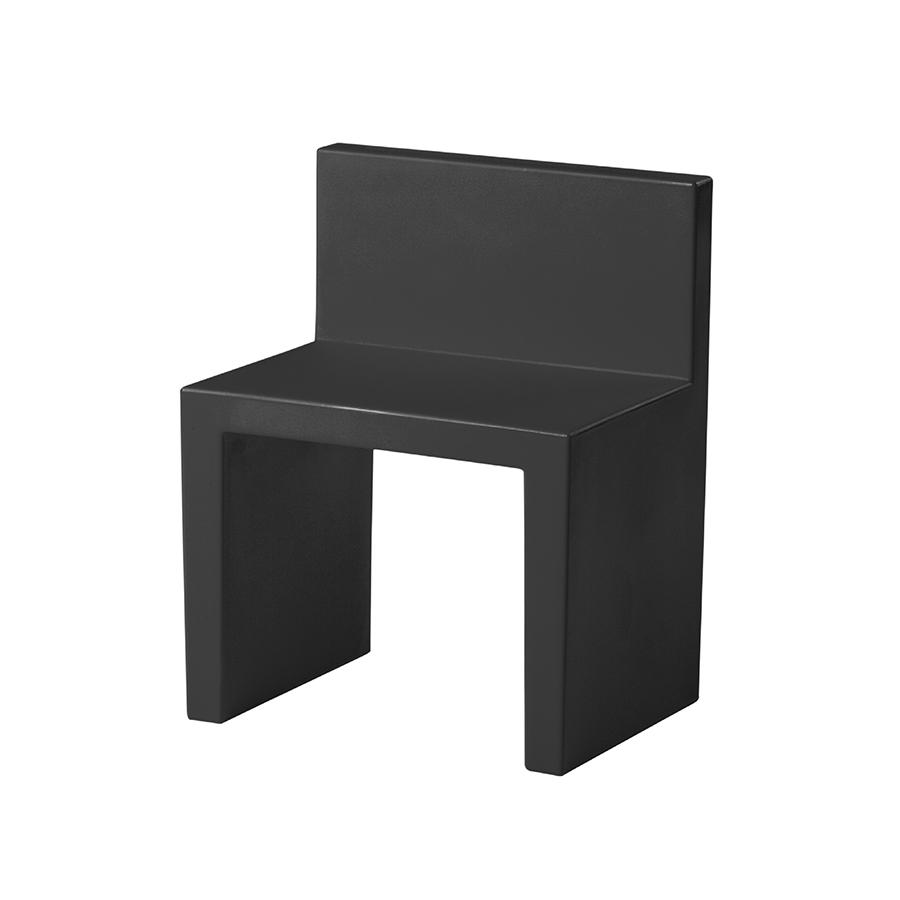 SLIDE set de 2 chaises ANGOLO RETTO (Noir Polyéthylène)
