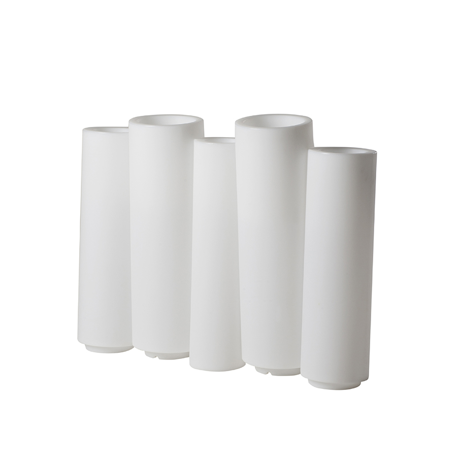 Slide vase lumineux bamboo blanc poly thyl ne for Vase lumineux exterieur