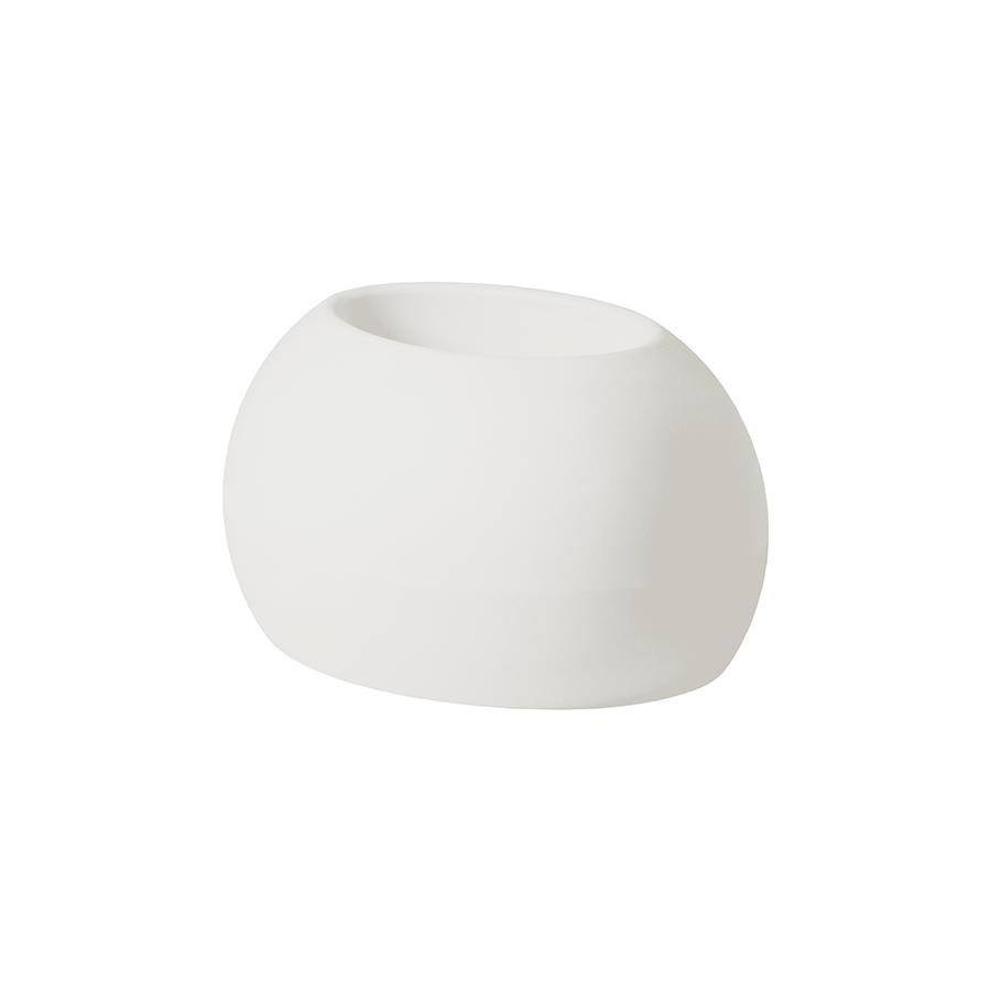 SLIDE Vase BLOS POT Blanc Lait Poly Thyl Ne