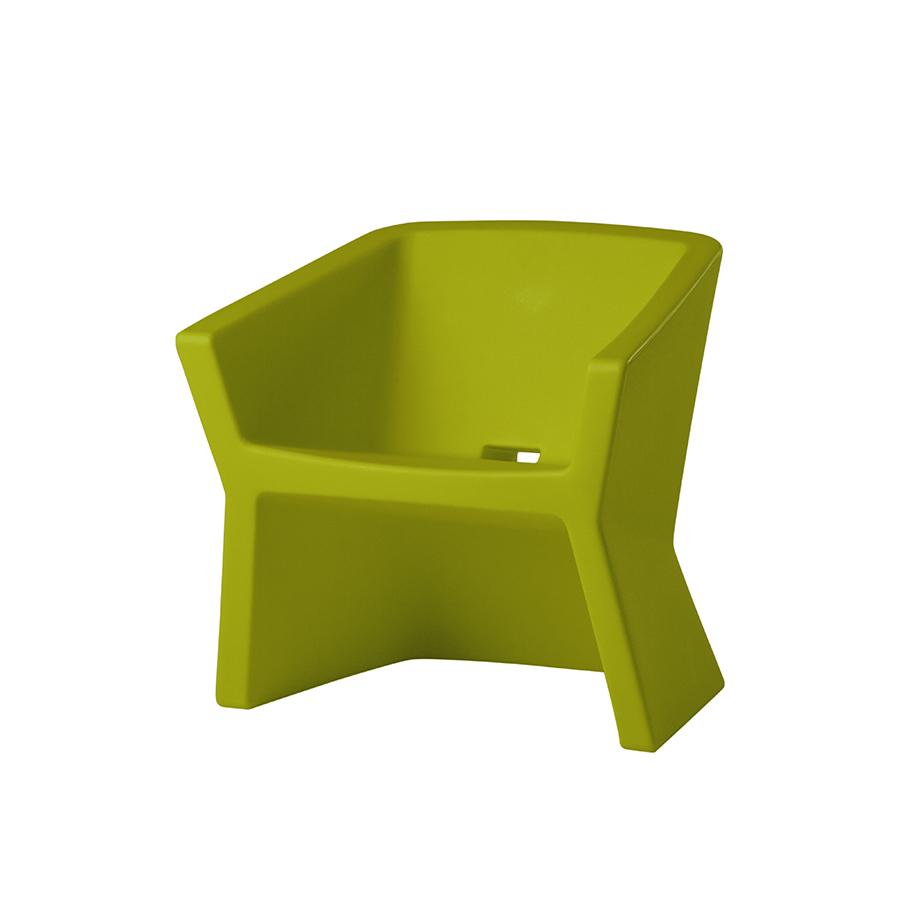 SLIDE fauteuil EXOFA (Citron vert Polyéthylène)