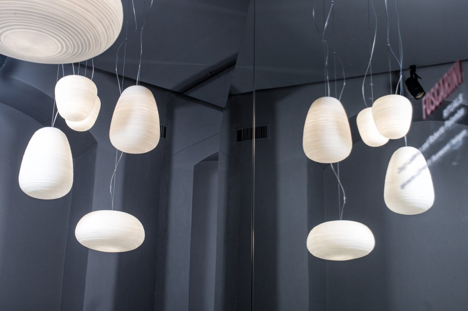 Rituals 3 Foscarini.Foscarini Suspension Lamp Rituals 3 White Blown Glass And Painted Metal