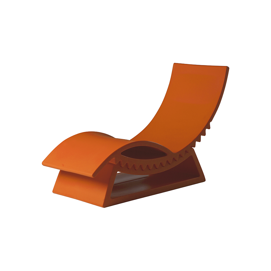 Slide bain de soleil chaise longue tic tac orange for Chaise de soleil longue
