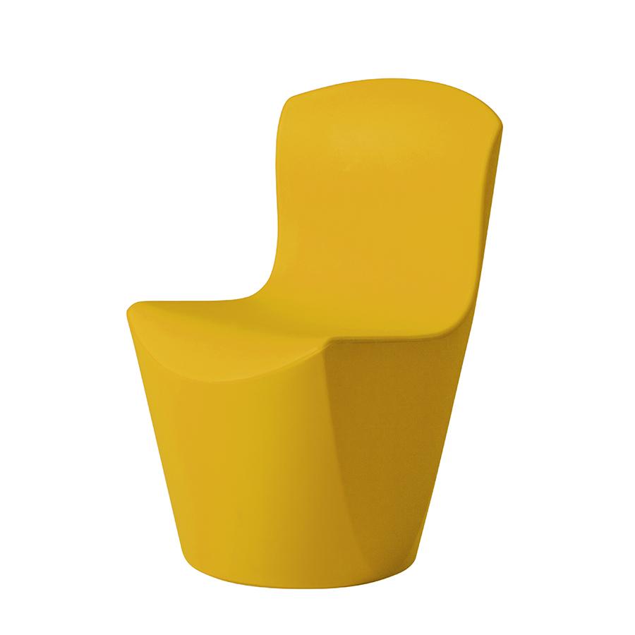 SLIDE set de 2 chaises ZOE (Jaune - Polyéthylène)