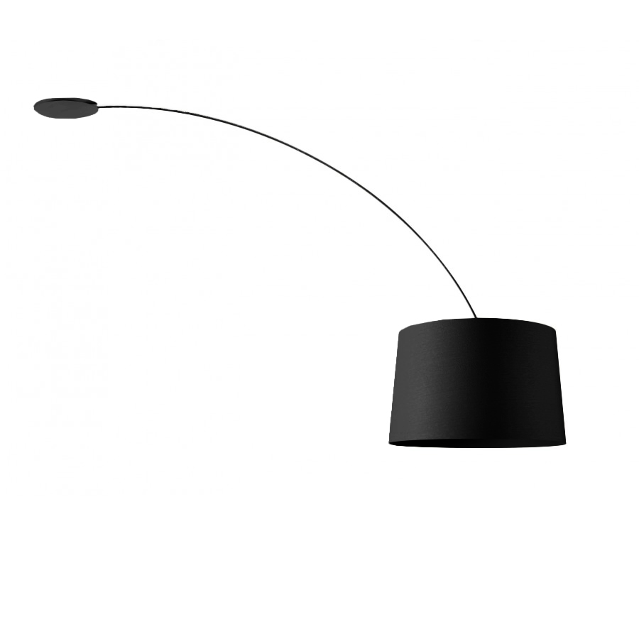 foscarini lampe de plafond twiggy noir fibra di vetro policarbonato pmma e metallo. Black Bedroom Furniture Sets. Home Design Ideas