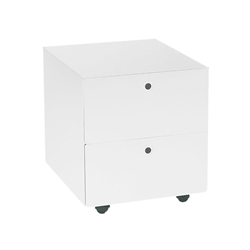 KRIPTONITE container on wheels with 2 drawers W 40 cm