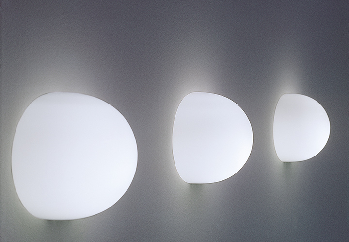 Flos wall lamp glo ball w opal white glass myareadesign