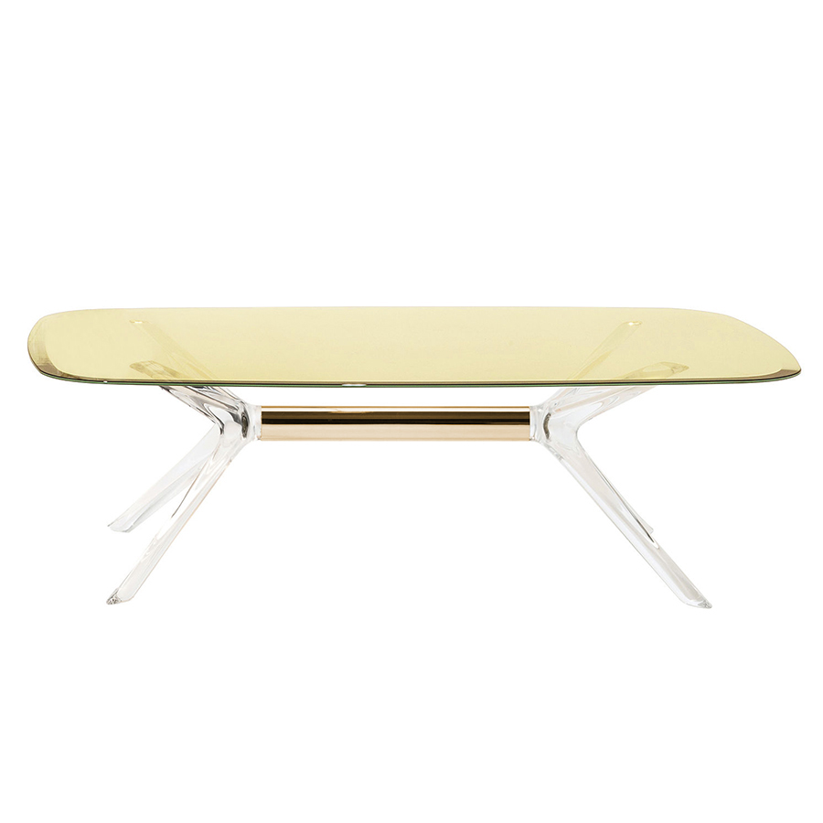Kartell table basse blast avec plateau rectangulaire for Table basse kartell