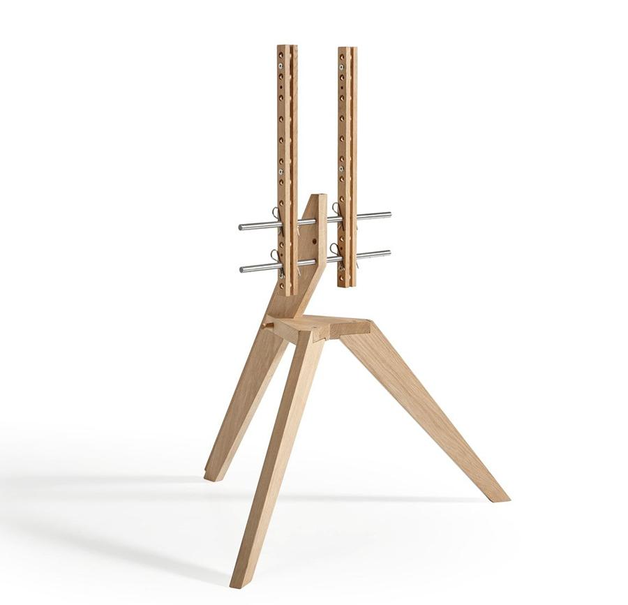 Vogel 39 s support stand pour tv en bois next op1 pour lcd oled 46 70 ch ne clair bois for Support tv bois