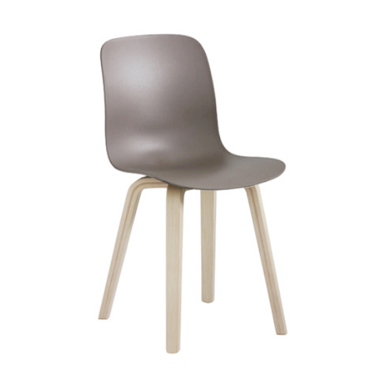 MAGIS set de 2 chaises SUBSTANCE PLYWOOD (Gris beige Frêne naturel et polypropylène)