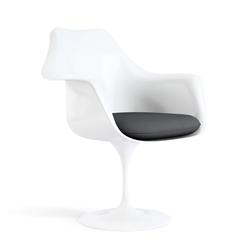KNOLL fauteuil pivotant KN02 avec ottoman KN03 en tissu avec dossier haut inclinable (Rivington Lion - Revêtement Cat. S et structure en [...]