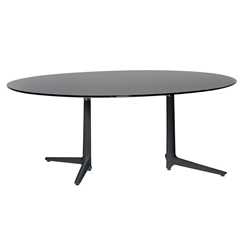 KARTELL table MULTIPLO XL with oval plan
