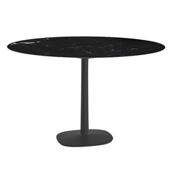 KARTELL table MULTIPLO with round plan Ø 118 cms and large square base