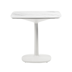KARTELL table MULTIPLO with rounded square plan 99 cm and large square base