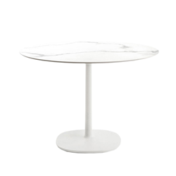 KARTELL table MULTIPLO with round plan Ø 135 cms and large square base