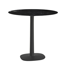 KARTELL table MULTIPLO with round plan Ø 78 cms and small square base