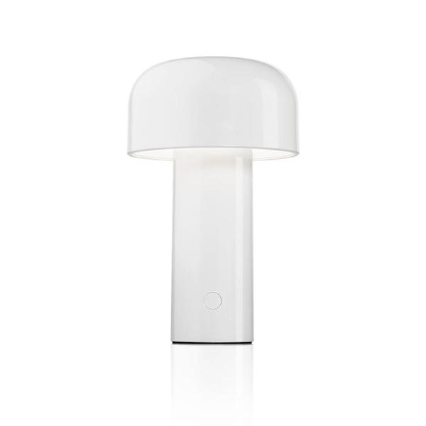 Flos Lampe De Table Sans Fil Rechargeable Bellhop Blanc