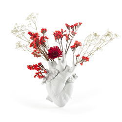 SELETTI vase en forme de coeur LOVE IN BLOOM