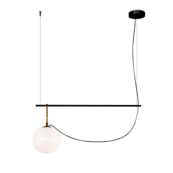 ARTEMIDE suspension lamp NH1217 S2 22 (LED blown glass and brass)