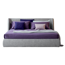 BONALDO storage double bed BASKET OPEN with bed base 160x200 cm