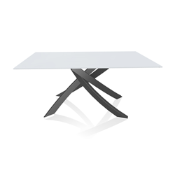 BONTEMPI CASA table avec structure anthracite ARTISTICO 20.13 160x90 cm