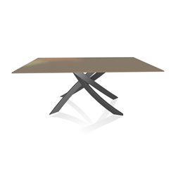 BONTEMPI CASA table avec structure anthracite ARTISTICO 20.00 180x106 cm
