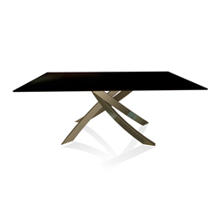 BONTEMPI CASA table with aged brass frame ARTISTICO 20.00 180x106 cm