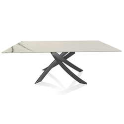 BONTEMPI CASA table avec structure anthracite ARTISTICO 52.45 200x100 cm