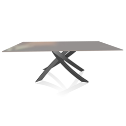 BONTEMPI CASA table avec structure anthracite ARTISTICO 20.01 200x106 cm