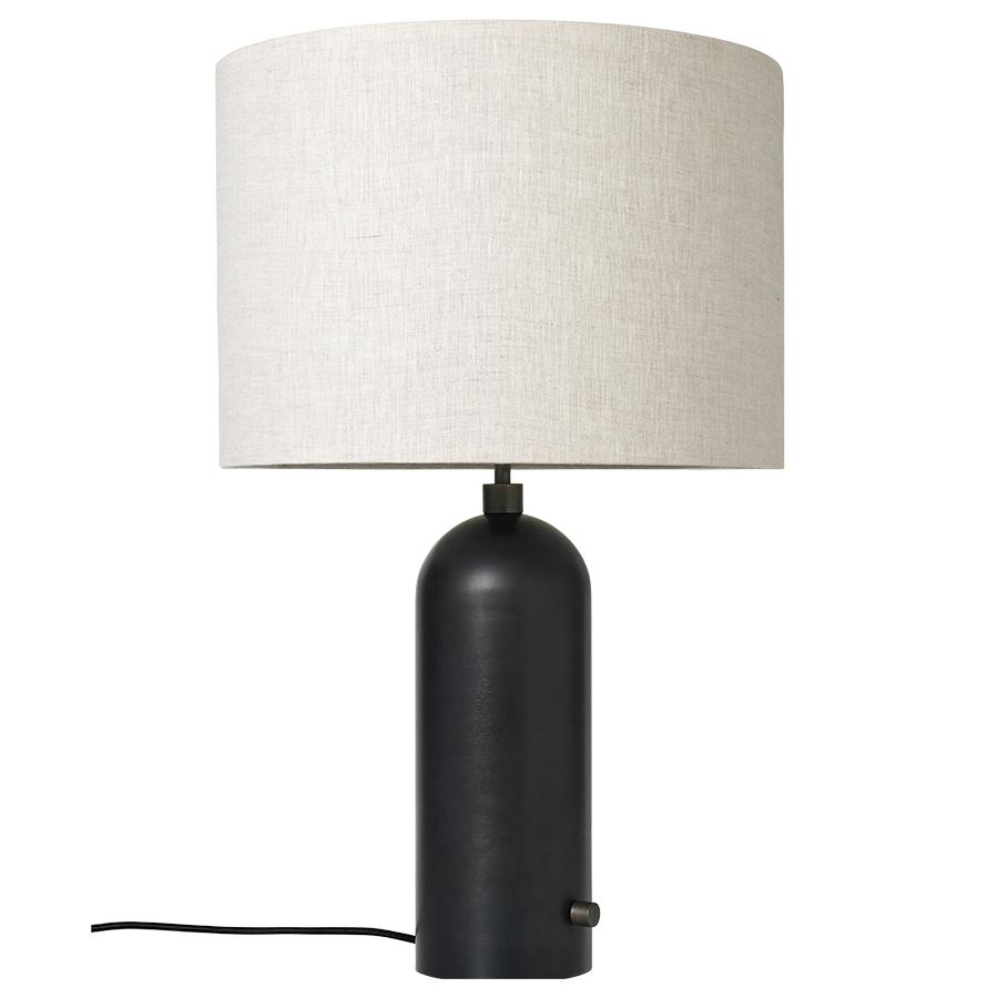 GUBI lampe de table GRAVITY LARGE (Noir - métal et Tissu Canvas)