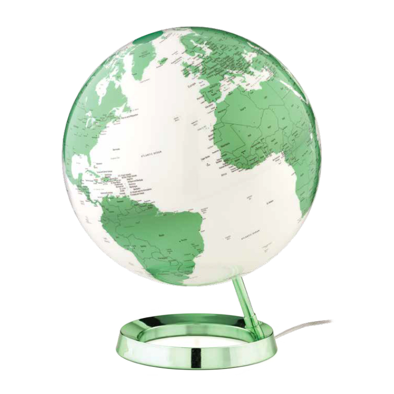 ATMOSPHERE lampe de bureau mappemonde LIGHT & COLOUR BRIGHT (Hot Green - PMMA)