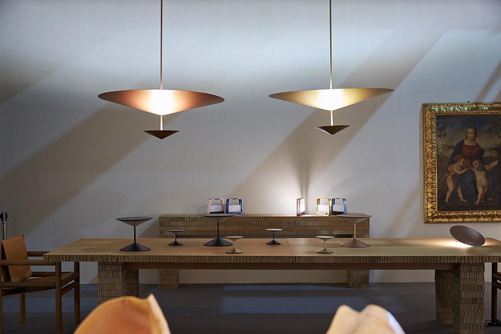 Penta Light Suspension Lamp Narciso Matt Graphite Metal