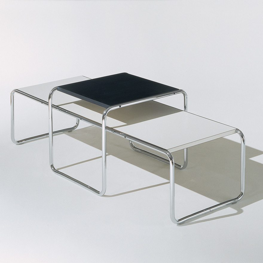 Knoll Table Basse Rectangulaire Laccio Calacatta Marbre Et Acier Chrome