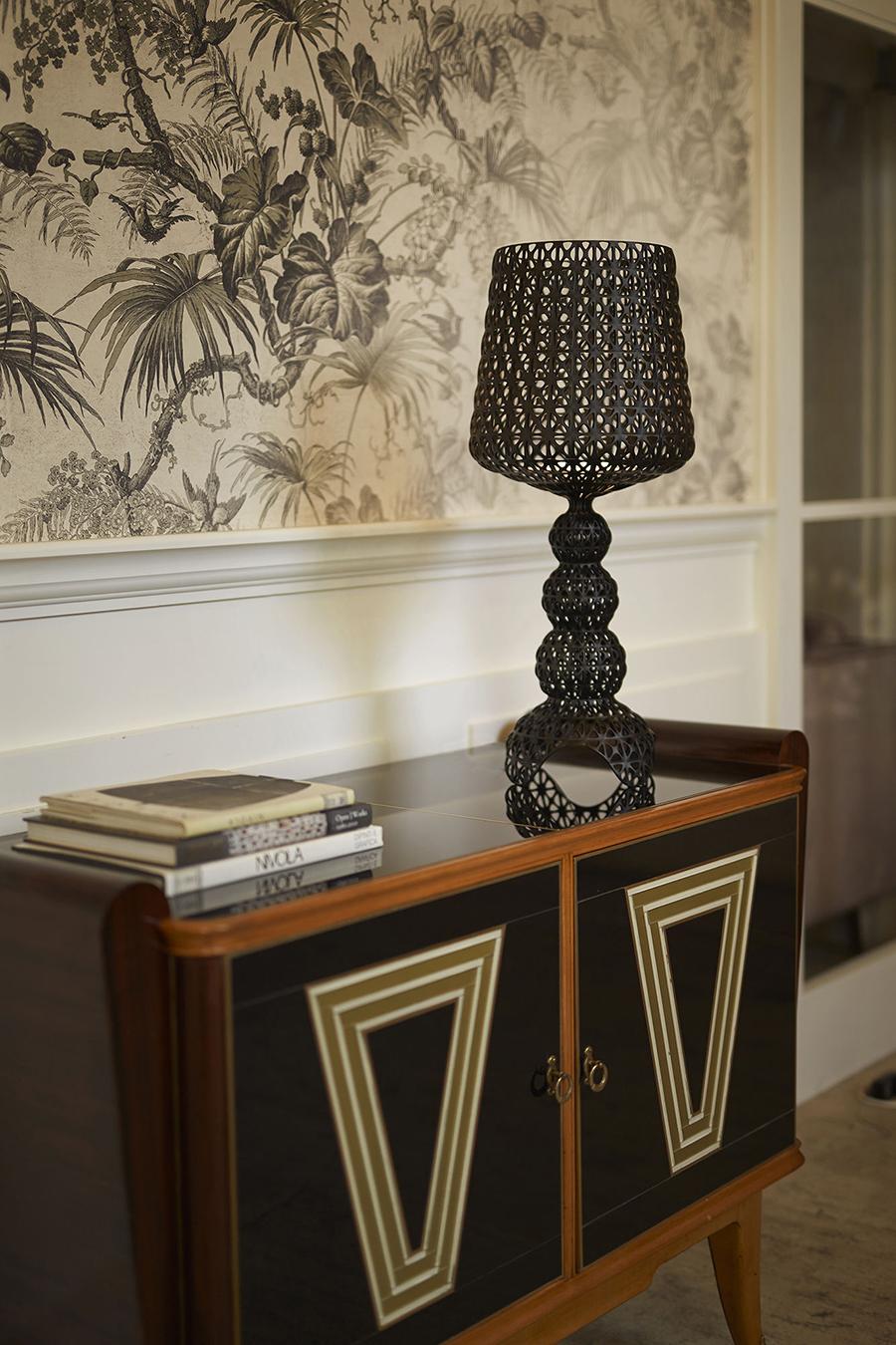 KARTELL lampe de table MINI KABUKI (Blanc Technopolymère thermoplastique coloré dans la masse)