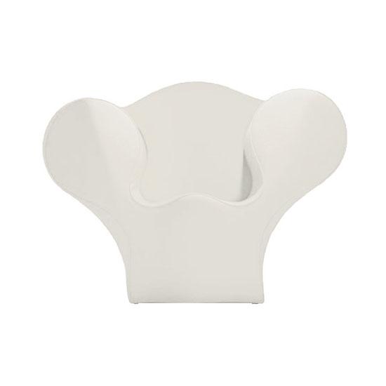 MOROSO fauteuil SOFT BIG EASY SPRING COLLECTION (Blanc Acier Tissu Divina)
