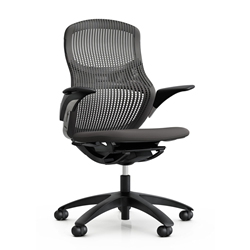 KNOLL office chair with castors GENERATION with arms and dark base