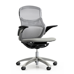 KNOLL office chair with castors GENERATION with arms and aluminium base