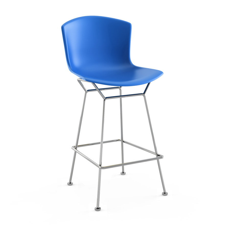 Structure Steel Knoll Bertoiachromed Body Counter Stool Blue tQhxrBosdC