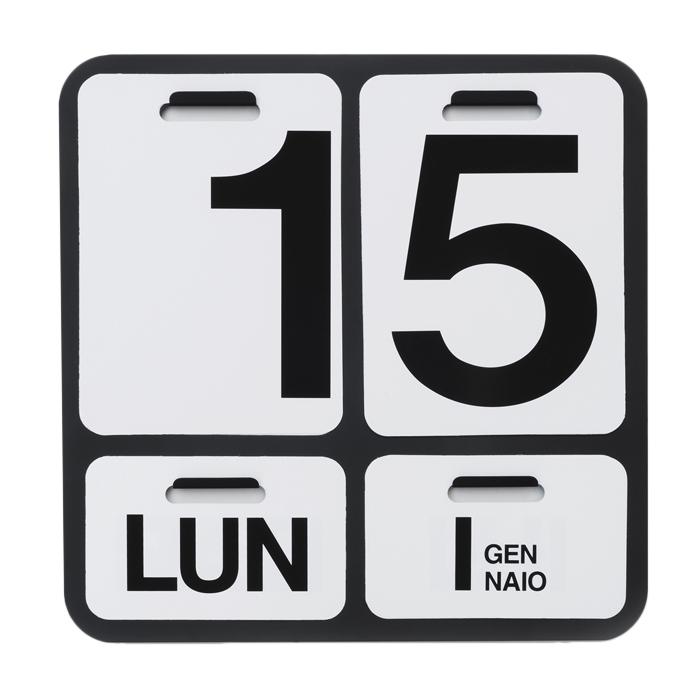 DANESE calendrier FORMOSA (noir / noir - Aluminium)