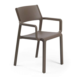 NARDI chaise avec accoudoirs pour extérieur TRILL ARMCHAIR