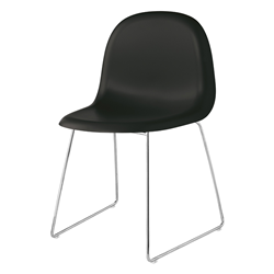 GUBI chaise 3D DINING CHAIR base luge chromée
