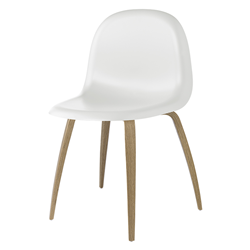 GUBI chaise 3D DINING CHAIR base en bois