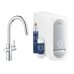 "GROHE single-lever mixer ""C"" style with BLUE HOME system for 3 types of water 31541000B"