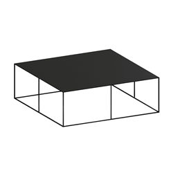 ZEUS table basse carré SLIM IRONY LOW TABLE