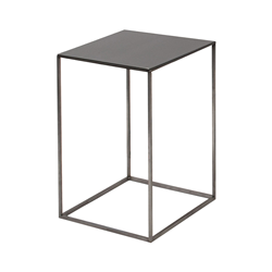 ZEUS table basse carré SLIM IRONY LOW TABLE 31 x 31 cm