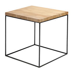 ZEUS table basse carré SLIM IRONY LOW TABLE 41 x 41 cm