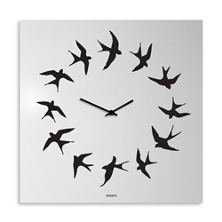 dESIGNoBJECT wall clock BIRDS