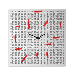 dESIGNoBJECT wall clock CROSSWORD