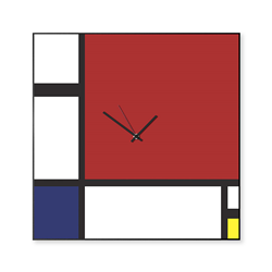 dESIGNoBJECT wall clock MONDRIAN